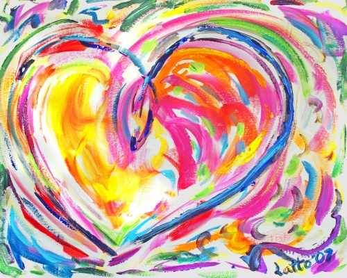 Drawing of a Heart as pure joy