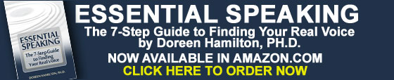 """Essential Speaking: The 7-Step Guide to Finding Your Real Voice"" by Doreen Hamilton, Ph.D."