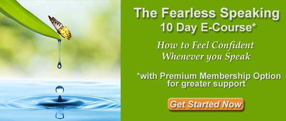 Image: Fearless Speaking 10 Day E-Course* with Premium Membership for Greater Support from Doreen Hamilton, Ph.D.